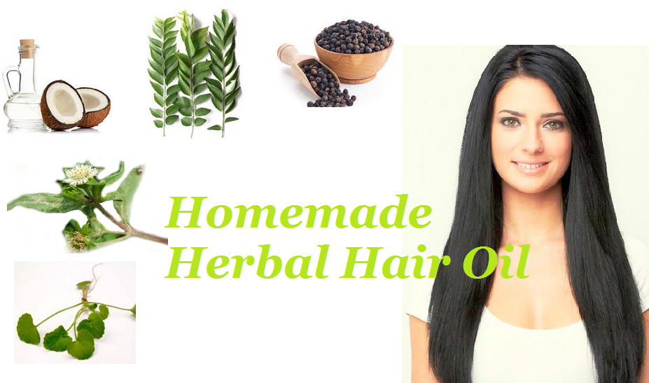 Homemade Herbal Hair Oil
